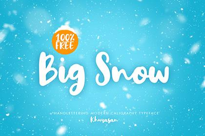 Big Snow Free Handlettering Font