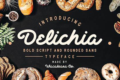 Delichia Script Free Demo