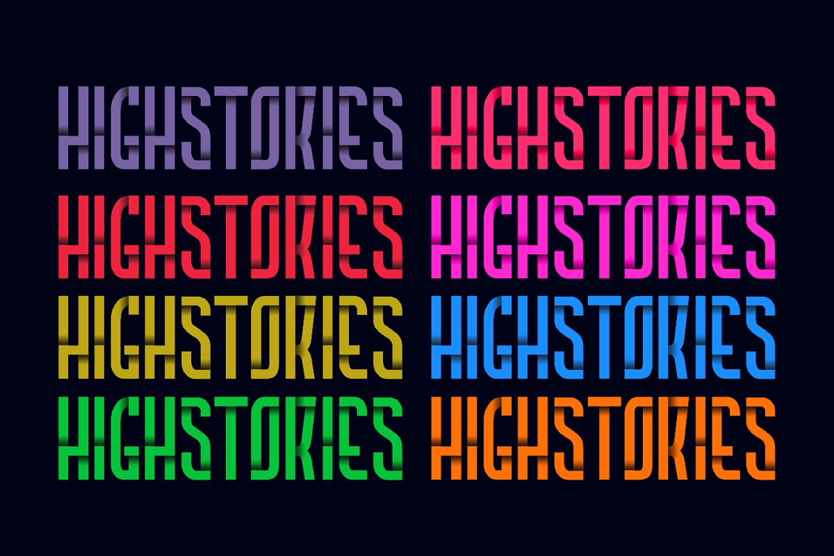 Highstories Font Family Demo