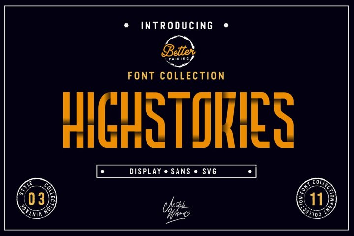 Highstories Font Family Demo