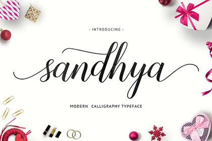 Sandhya Script Font Demo