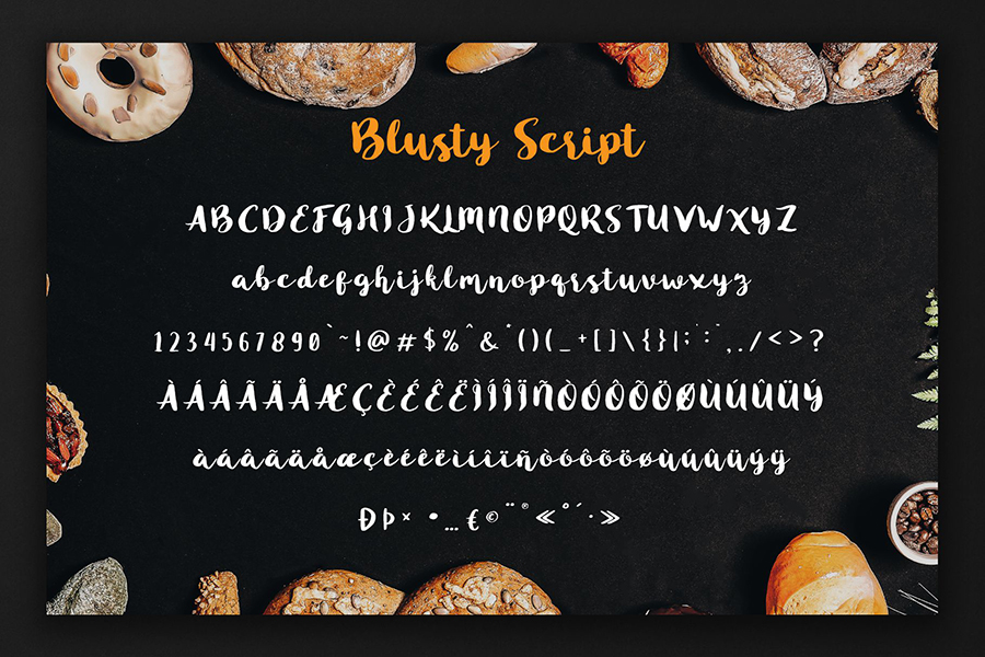 Blusty Script Font Demo