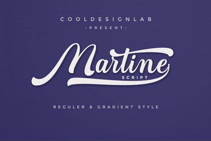 Martine Script Font Demo