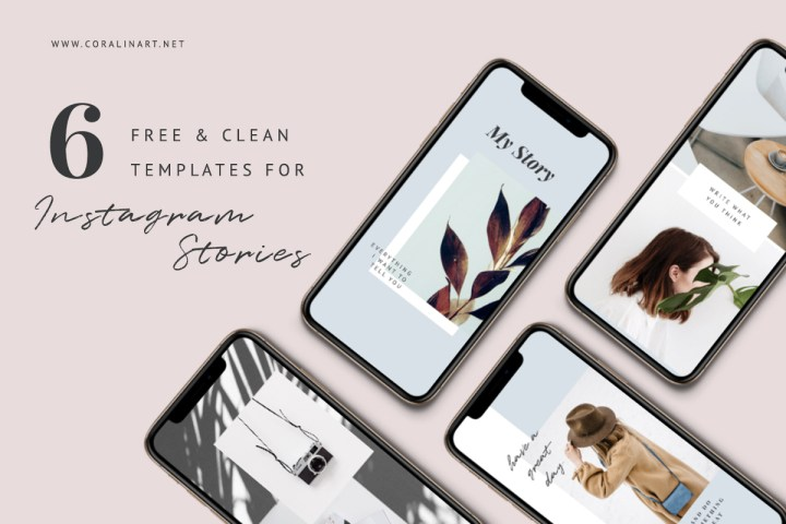 6 Free Clean Insta Story Templates