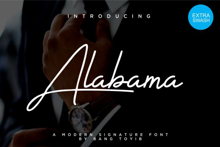 Alabama Signature Font Demo