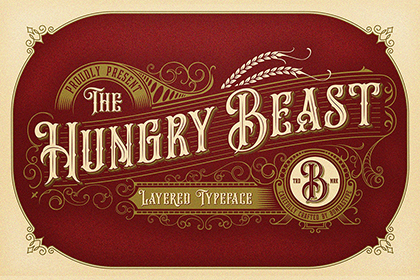 Hungry Beast Vintage Font