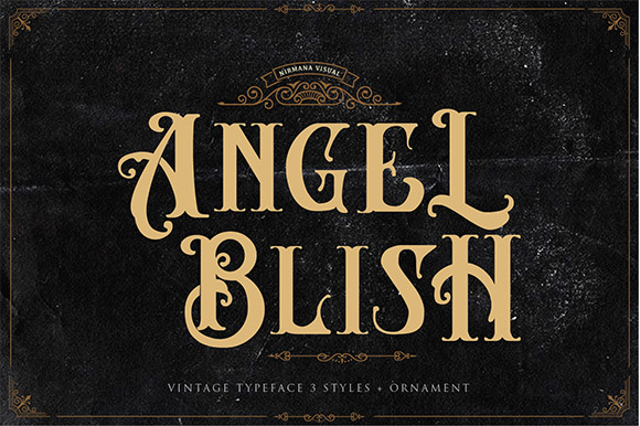 Angel Blish Vintage Font
