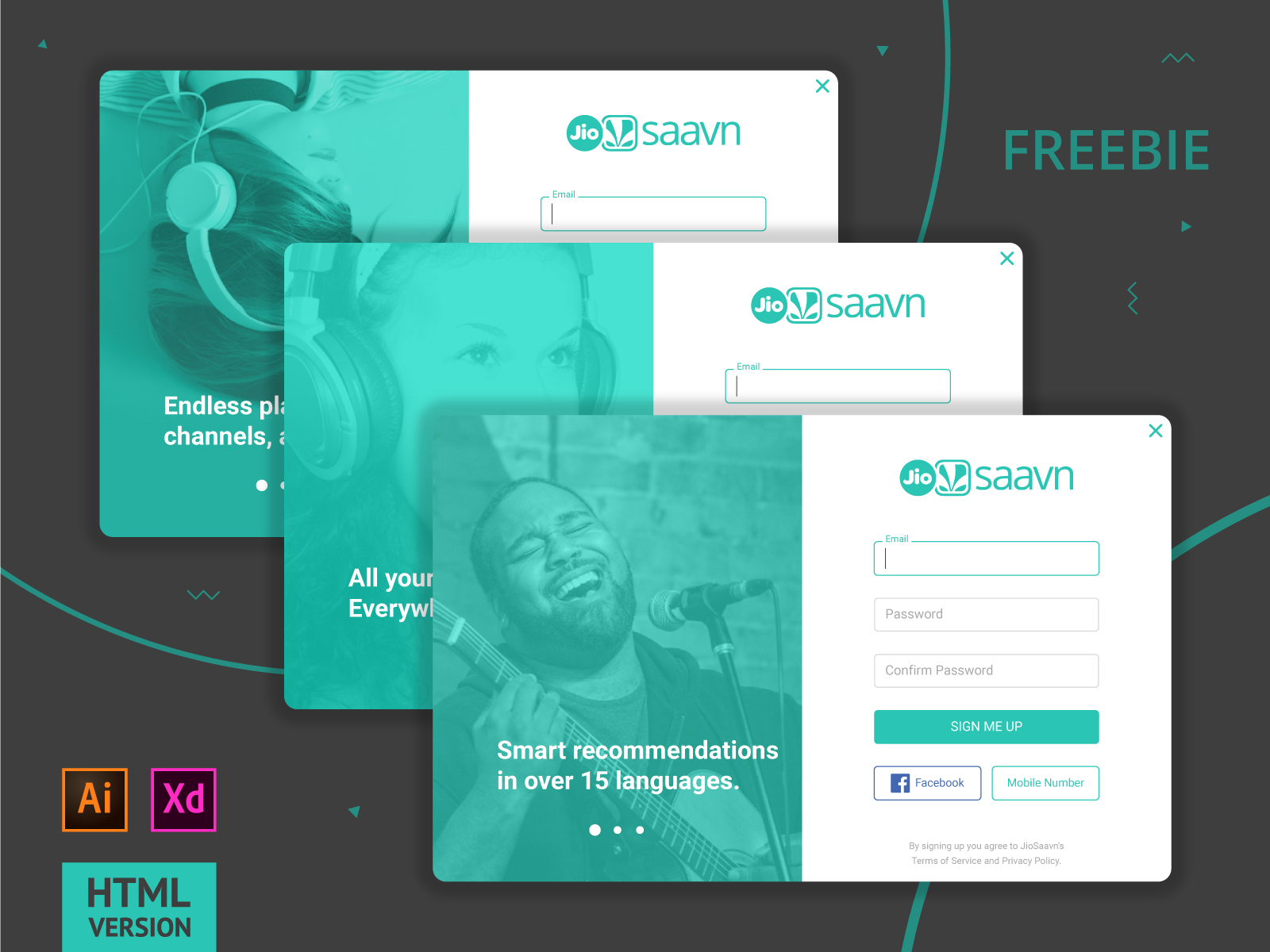 Free Signing-Up PSD Template