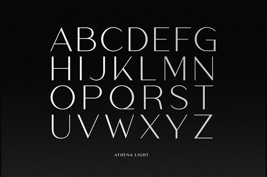 Athena Font Family Demo