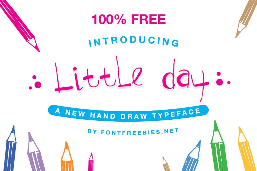 Little Day Free Handwriting Font – Free Design Resources