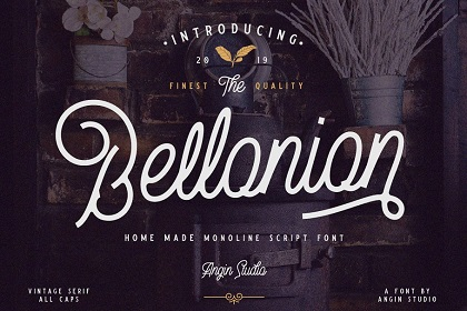 Bellonion Script Font Demo