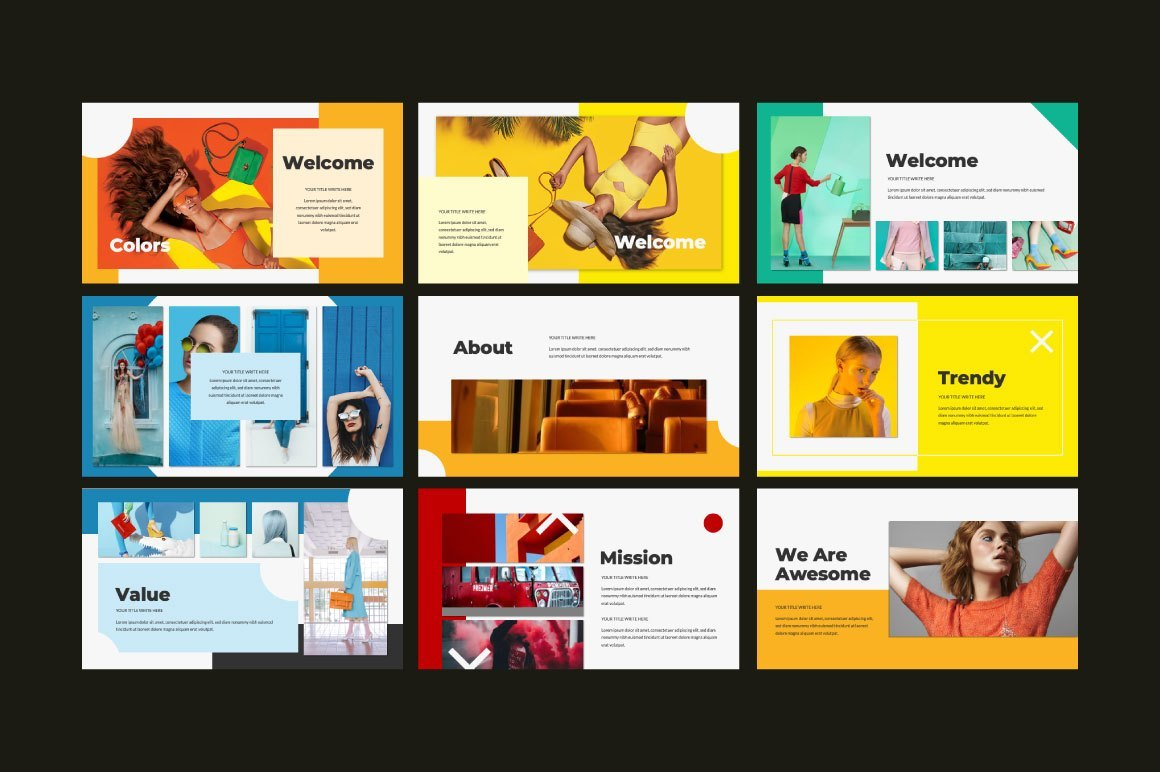 COLORS Free PowerPoint Template