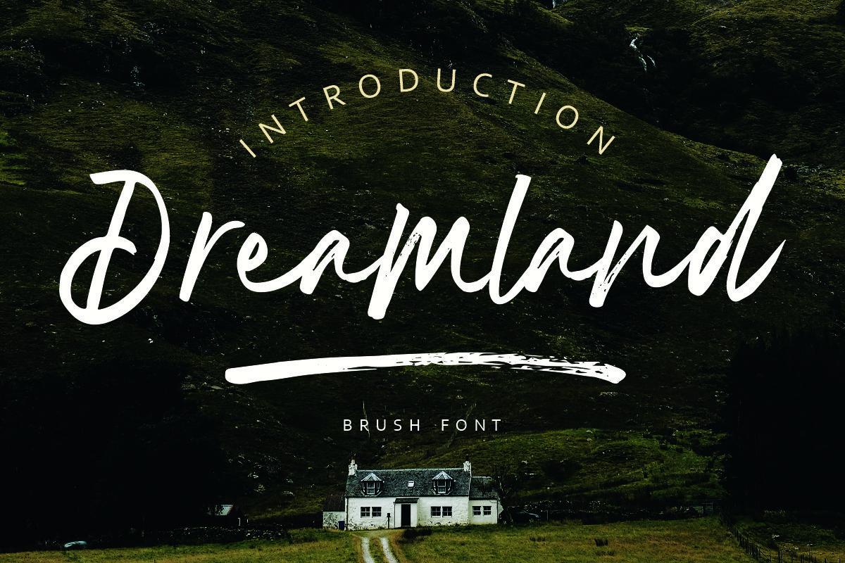 Dreamland Brush Font Demo