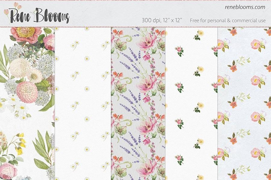Flowery Seamless Patterns