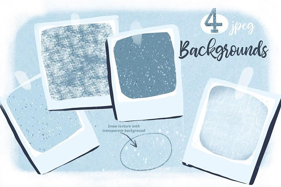 Free Snow Texture Background