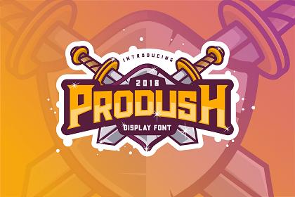 Prodush Free Display Font