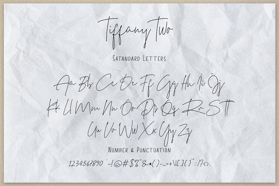Tiffany Script Free Demo