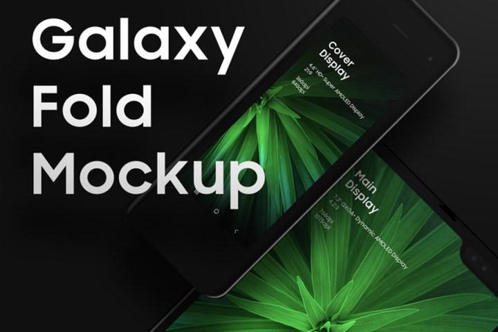 Galaxy Fold PSD Mockup