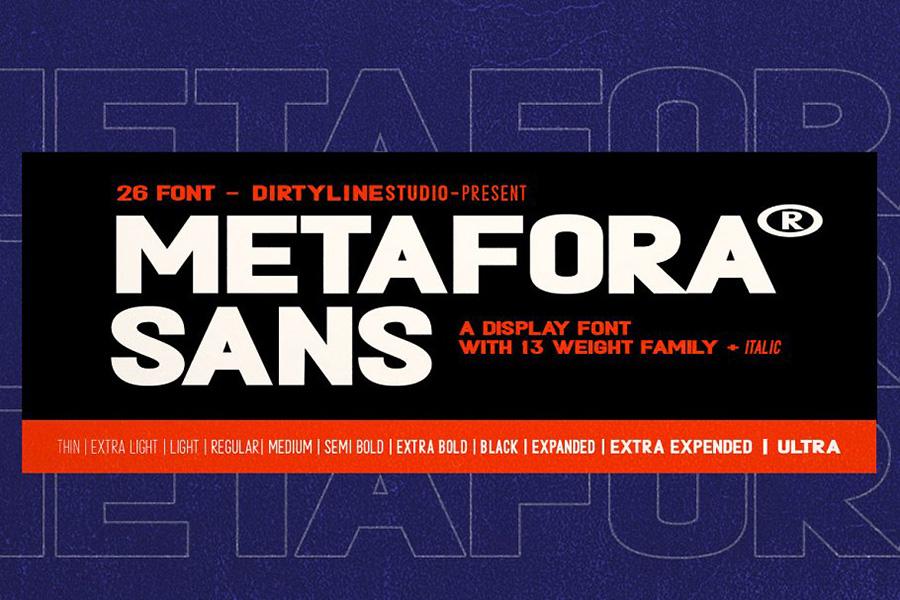Metafora Sans Font Demo