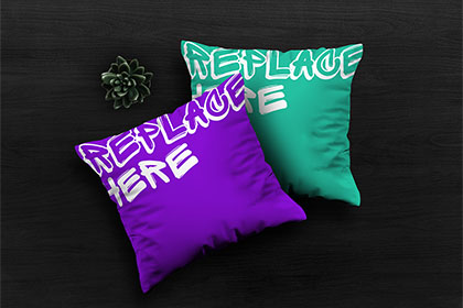 Free PSD Pillows Mockup
