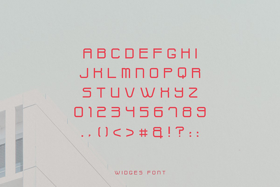 Widges Modern Font Demo