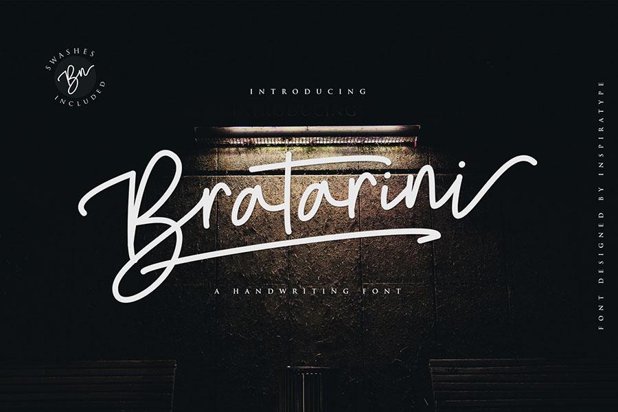 Bratarini Handwriting Font Demo