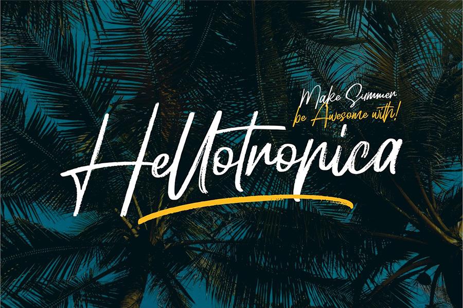 Hellotropica Handbrush Font