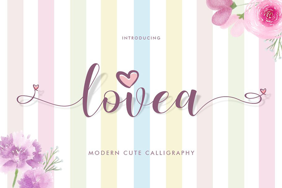 Lovea Handlettering Free Demo