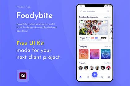Foodybite Free Mobile UI