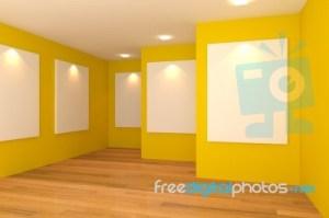 Empty Yellow Room Background 6