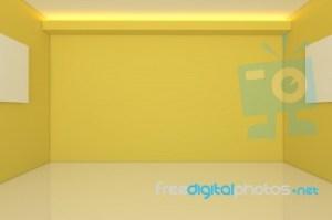 Empty Yellow Room Background 1