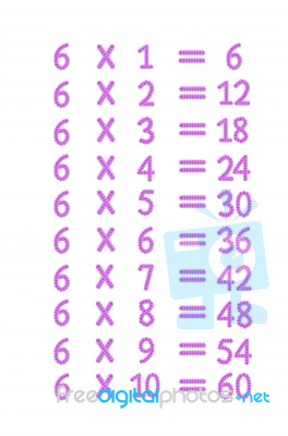 Number Names Worksheets » Table Of 6 Multiplication  Free
