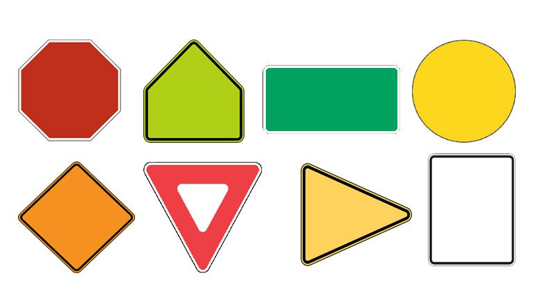 Learn road sign shapes for your permit test