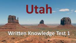 Utah Written Knowlege Test - Monument Valley