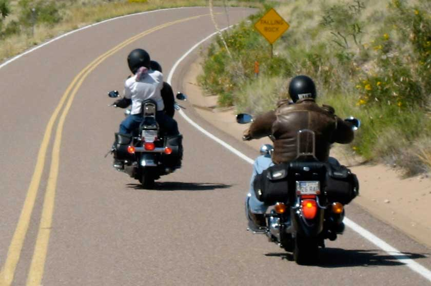 Safe following distance to motorcycles