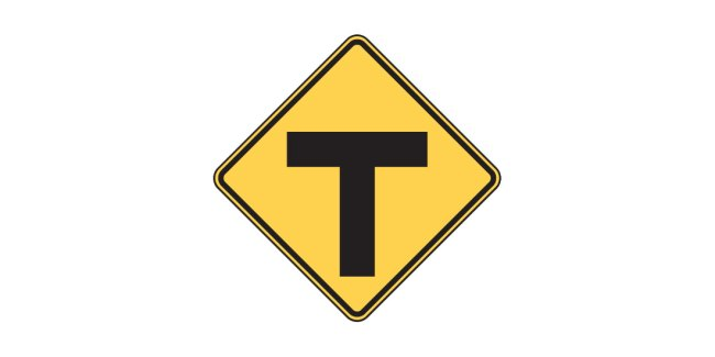 Intersection sign W2-4