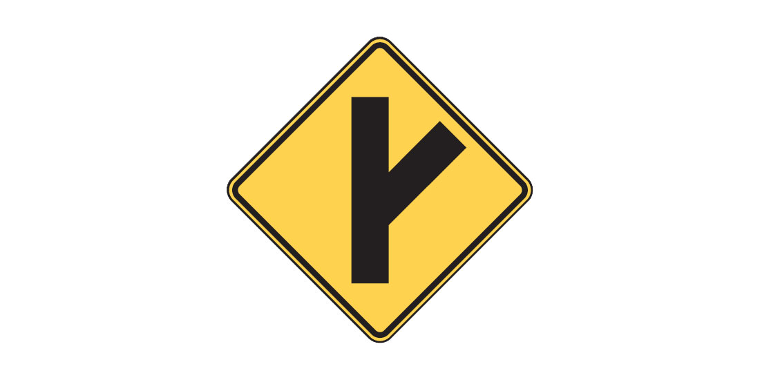 Intersection Sign W2-3
