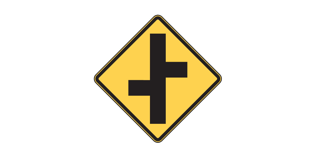 Intersection sign - FreeDMVTest.org
