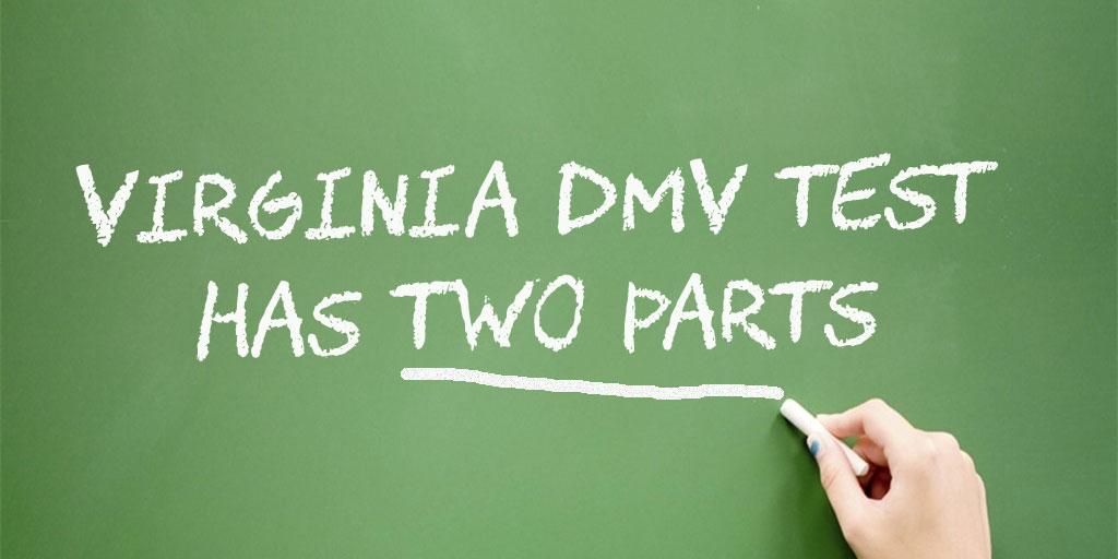 Virginia DMV Test has two parts
