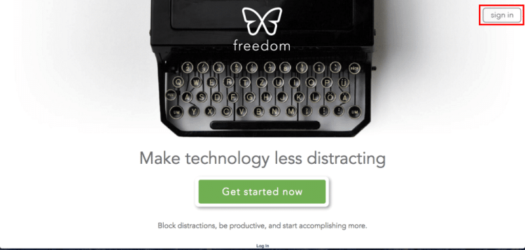 Log in to Freedom