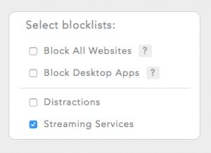 Select blocklists