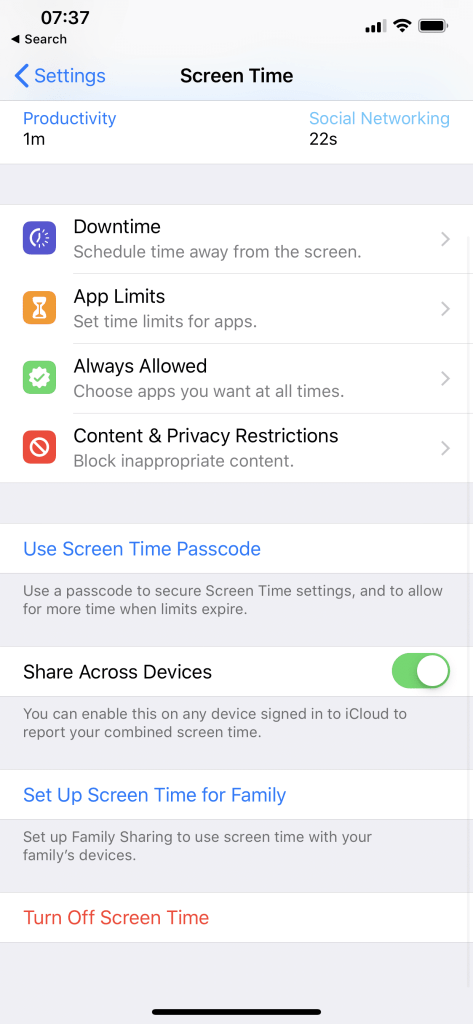 Share app limits across your devices