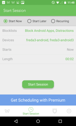 Block apps and notifications with Freedom for Android