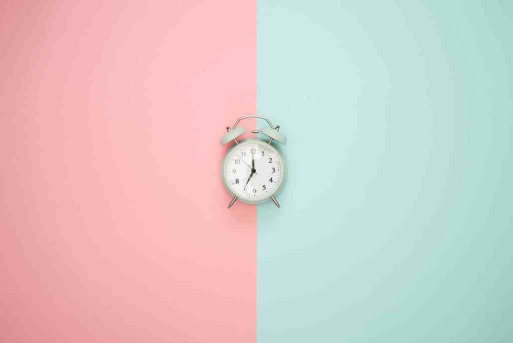 Time management tools and techniques symbolized by a clock