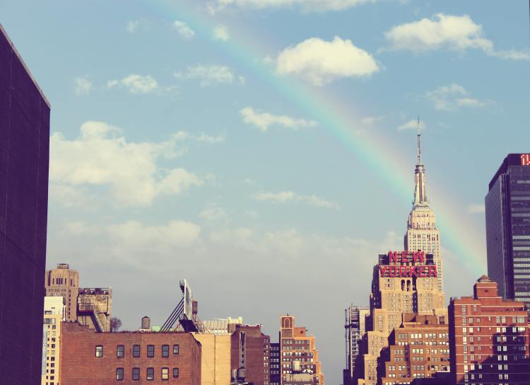 Everything's gonna be alright rainbow in New York