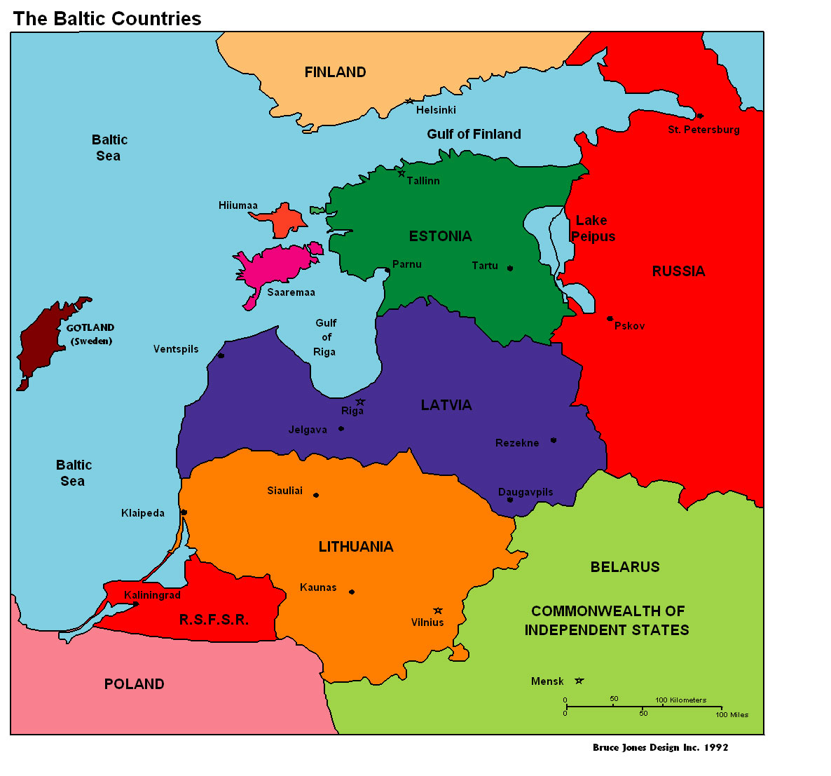 Baltic Countries Map