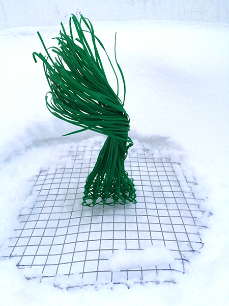 Grass Extension maquette made of garden twist ties. Freedom Baird
