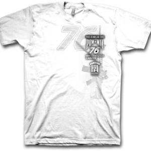 White POW-MIA 76 Freedom Car T-shirt