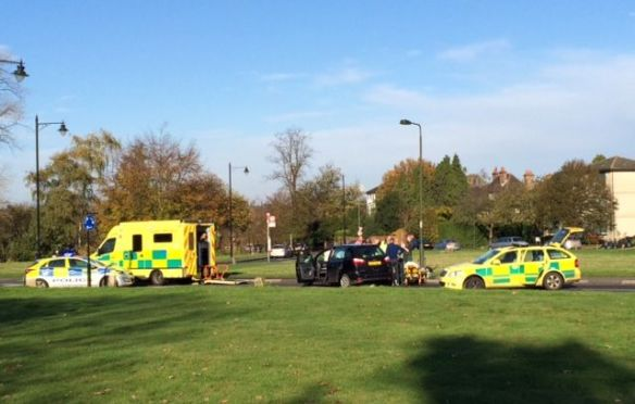 Commons roundabout accident
