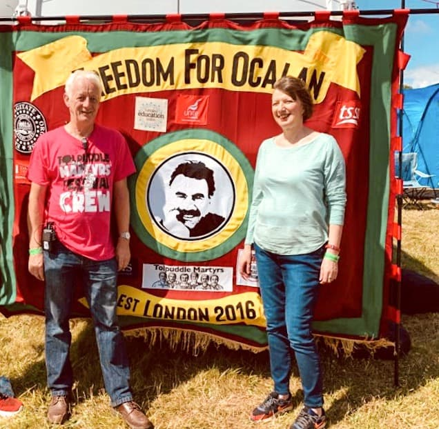 Tolpuddle Martyrs Festival 2019 - Frances O'grady general secretary TUC, Nigel Costley Regional Secretary TUC Freedom for Ocalan